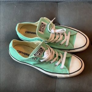 Converse mint green sneakers